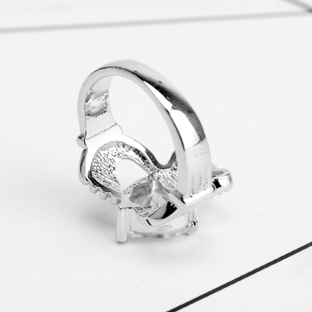 HANCHANG Love Heart Design Crown Hand Heart Clah-Duh Claddagh Rings For Women Christmas Gift Anel Fashion Jewelry Bague Gift 4