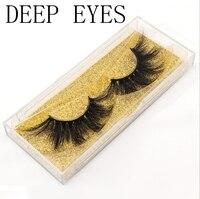 DEEP EYES 10 boxes of 100% mink eyelashes 3D eyelashes large dramatic eyelashes cross pattern false eyelashes