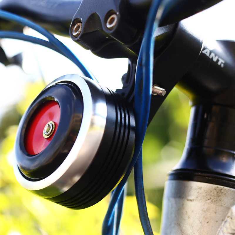 USB Charging Bicycle Bell Electric Horn With Alarm Loud Sound Horn Ring MTB Road Bike Handlebar Cycling Safety Anti-theft Alarm