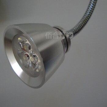 Nowy 3 W Reflektory Punktowe LED Wąż Tło Malowanie Na ścianie Rury Kolanko Węża Książki światło Odzież Z Przodu Lustro Lampka Nocna SD114