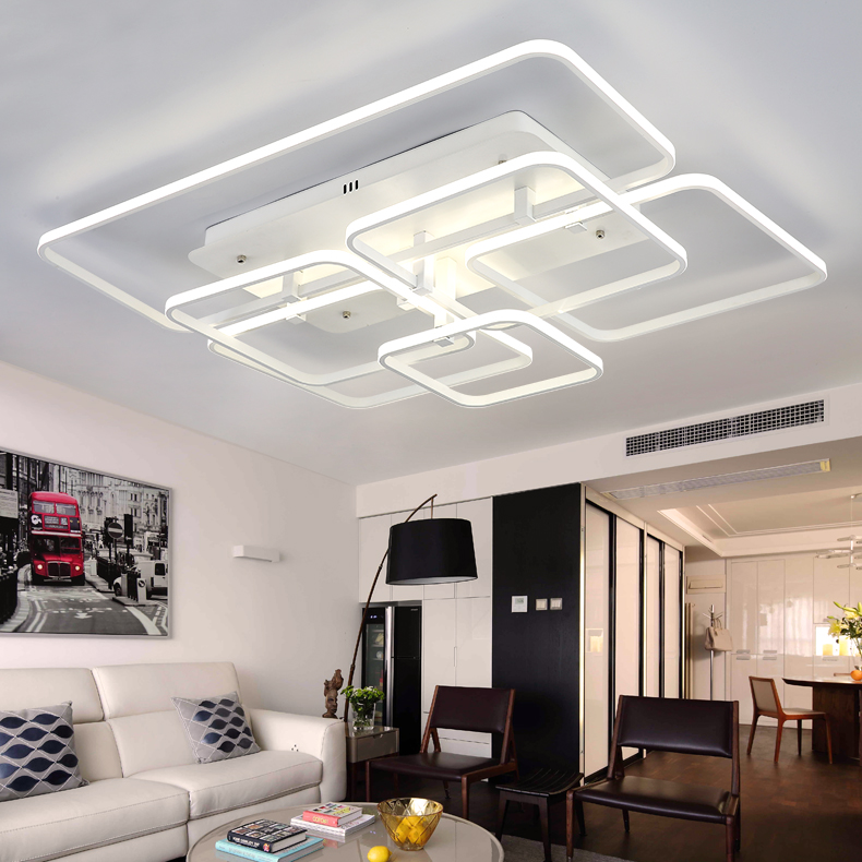 Creative personality remote dimming LED ceiling light modern living room bedroom study lighting ceiling lamps 110-240V