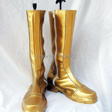 2b269fbd058 Anime Faia Emuburemu Cosplay Fire Emblem Sothe Cosplay Shoes Golden Boots  Party Halloween Free Shipping(