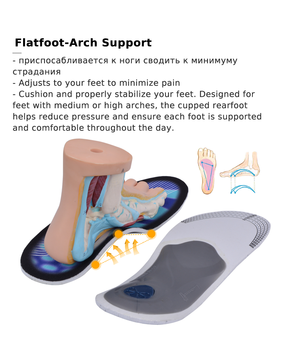 3ea6dc7659 EXPfoot Top Selling High quality EVA Flatfoot Orthotic Insole Arch ...