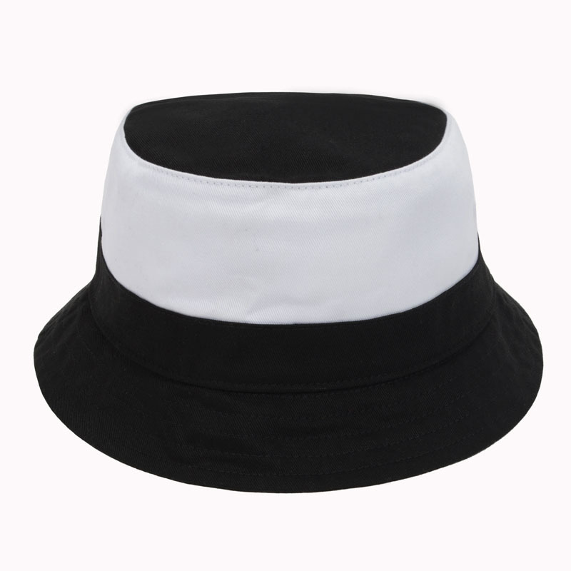 6272f4a7593 Camping Hiking Hunting Fishing Outdoor Bob Black White Cotton Plain Bucket  Hat Cap Hip Hop Women Men Chapeu Masculino Goldtop