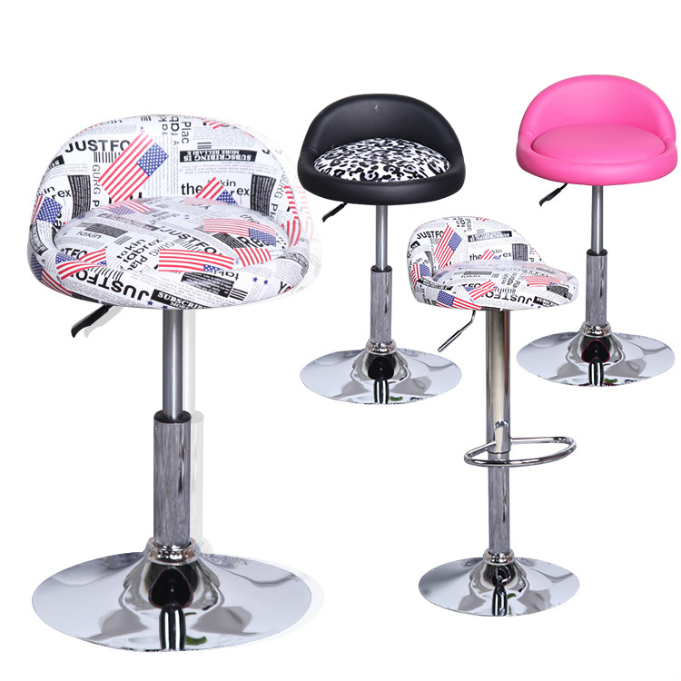 Furniture Bar Furniture Generous European High-end Leisure Lifting Bar Chairs Rotating Bar Chair With Backrest In Pain