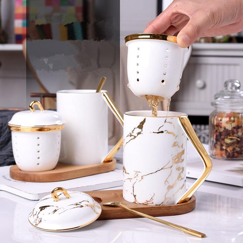 Bureau Apporter Du Thé Tasse Porcelaine Thé Séparation de L'eau Parfumée café voyage tasse tasses et tasses