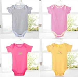 Image 5 - Детское боди Hooyi с коротким рукавом, 100% хлопок, боди, комбинезон для малышей, детская одежда, Летние Боди для маленьких девочек