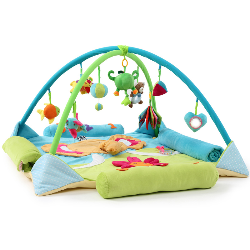 Larger Size Baby Activity Gym  Elephant Pattern To Extend Game Mat  Super Soft Blanket  Portable Bed  Twins Toys 120X120CM