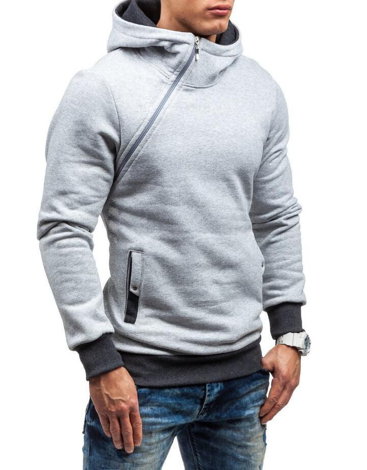 HEYKESON Brand 2017 Hoodie Oblique Zipper Solid Color Hoodies Men Fashion Tracksuit Male Sweatshirt Hoody Mens Purpose Tour XXL HEYKESON Brand 2017 Hoodies, with an chest Zipper HTB1EDrlSFXXXXaWaXXXq6xXFXXXa
