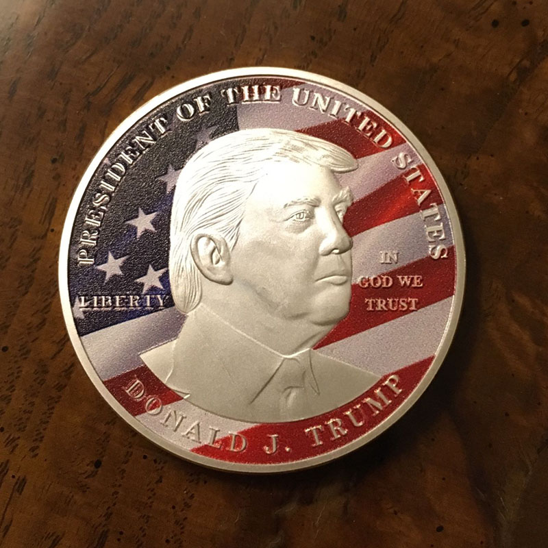 US 45th President of USA 2017 silver plated liberty coin Donald Trump