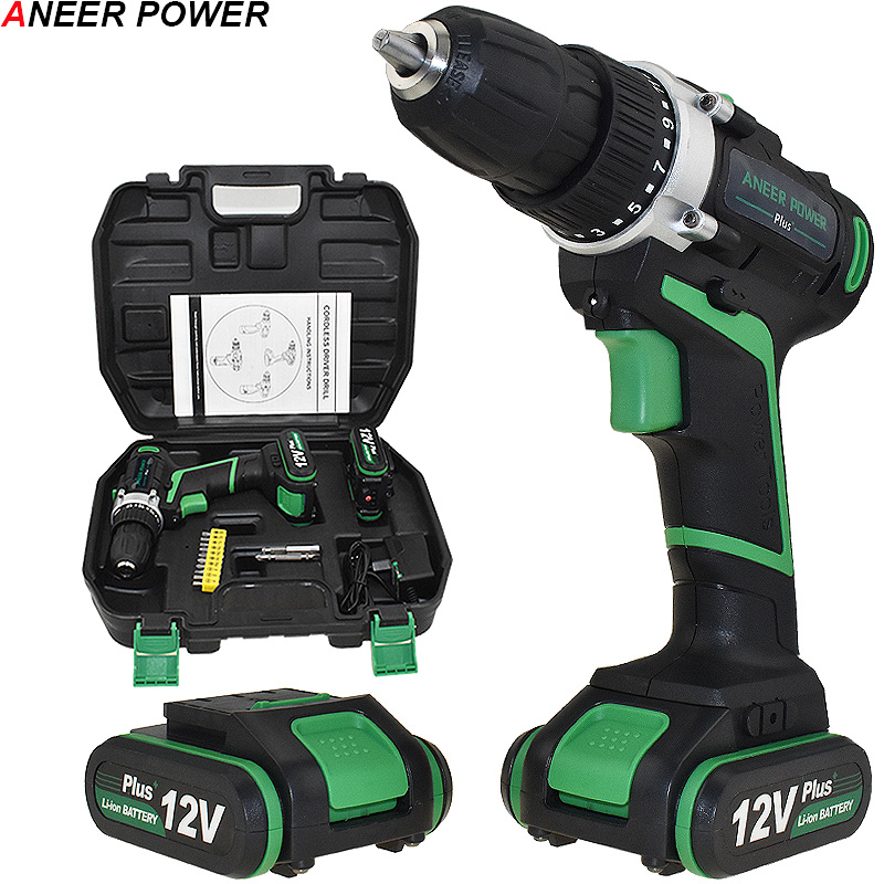 цена на 12v Plus Power Tools Mini Drill Drilling Electric Screwdriver Cordless Drill Electric Drill 2pcs Battery Batteries Screwdriver