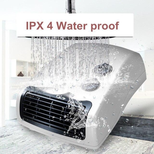 3 Gear Household Mini Heater Bathroom IPX4 Waterproof Wall Mount Electric  Fan Warmer Potable Electric Fan