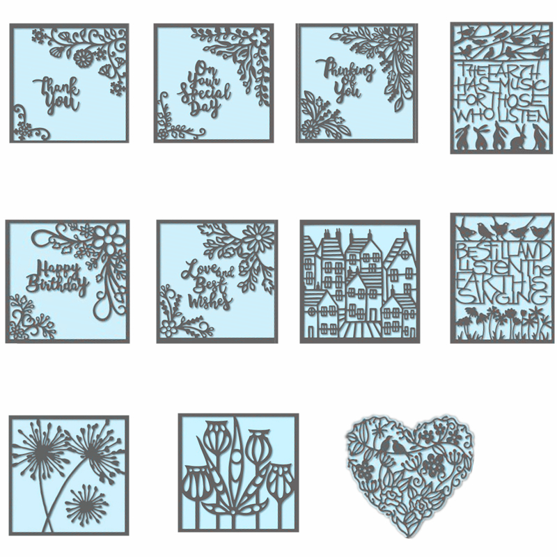 Frames with Flowers Words Fairy Animals Metal Cutting Dies for Scrapbooking Paper Photo Album Card Making Decor New 2019