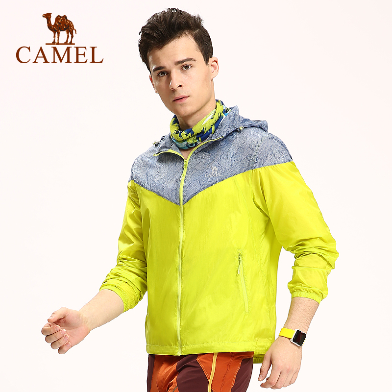 ФОТО 2016 Men's Skin Jackets Camel Men Trench Summer Thin Breathable Quick Dry Outdoor Sun-Protective Outerwear A6S270120
