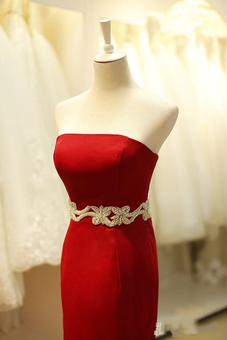 Elegant Sleeveless Red Mermaid Evening Dresses Cheap Satin Pleated Dress  Under  100 Long Vestido Longo Vermelho Vestido Noche-in Evening Dresses  from ... bbbef2e5b068
