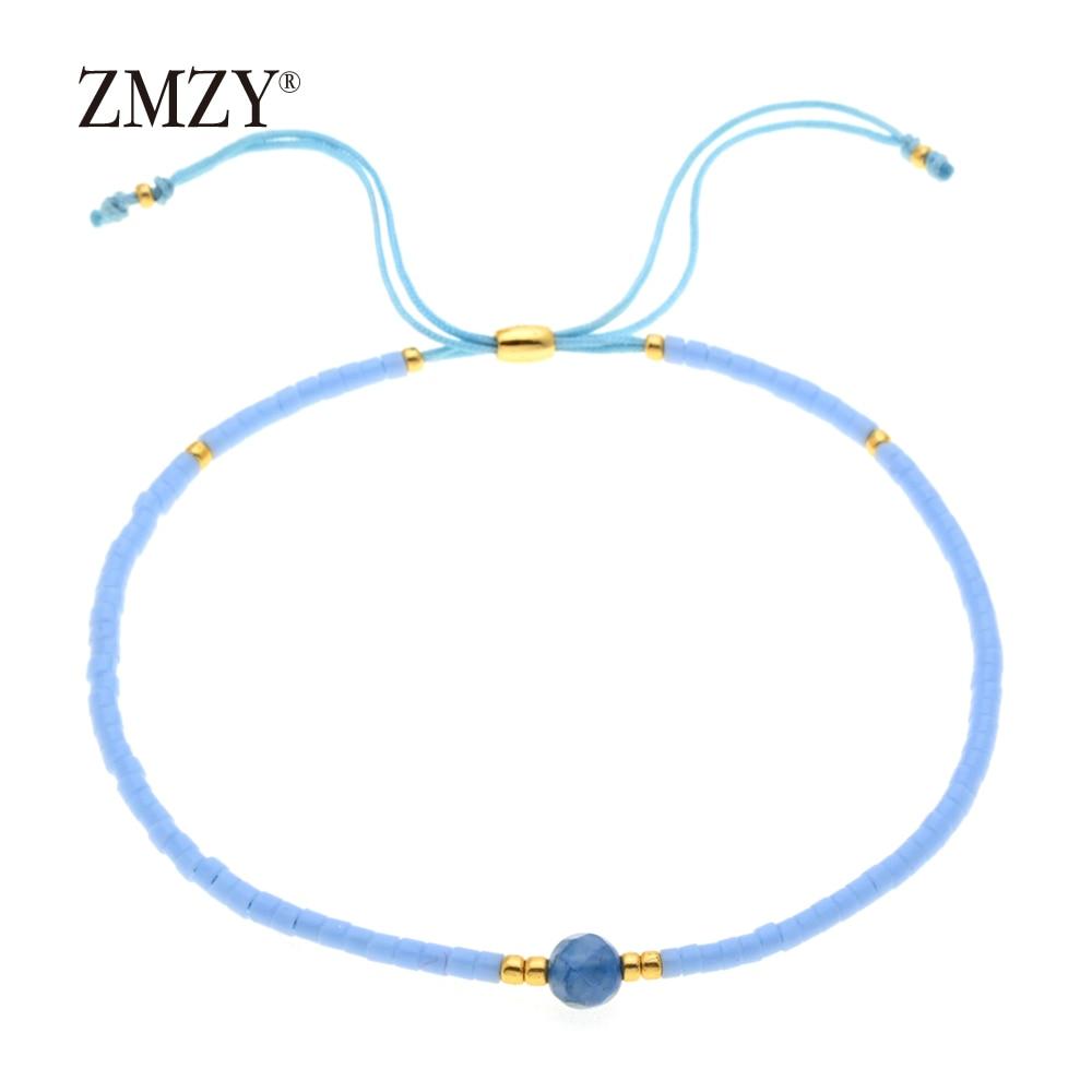ZMZY Miyuki Delica, бисер, женские браслеты, ювелирные изделия дружбы, модные, сделай сам, Bijoux Femme, простые браслеты, Прямая поставка - Окраска металла: QSSL003-14