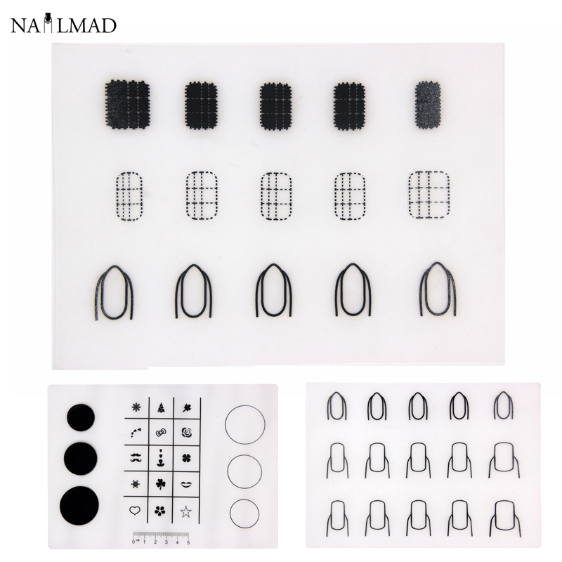 nailmad mini mat silicone stamping mat nail art stamping mat for stamping decals magic workshop. Black Bedroom Furniture Sets. Home Design Ideas