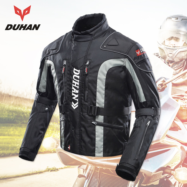 DUHAN Motorcycle Clothing Motocross Equipment Gear Men Motorcycle Jacket Cotton Underwear Cold-proof Moto Jacket Oxford Cloth