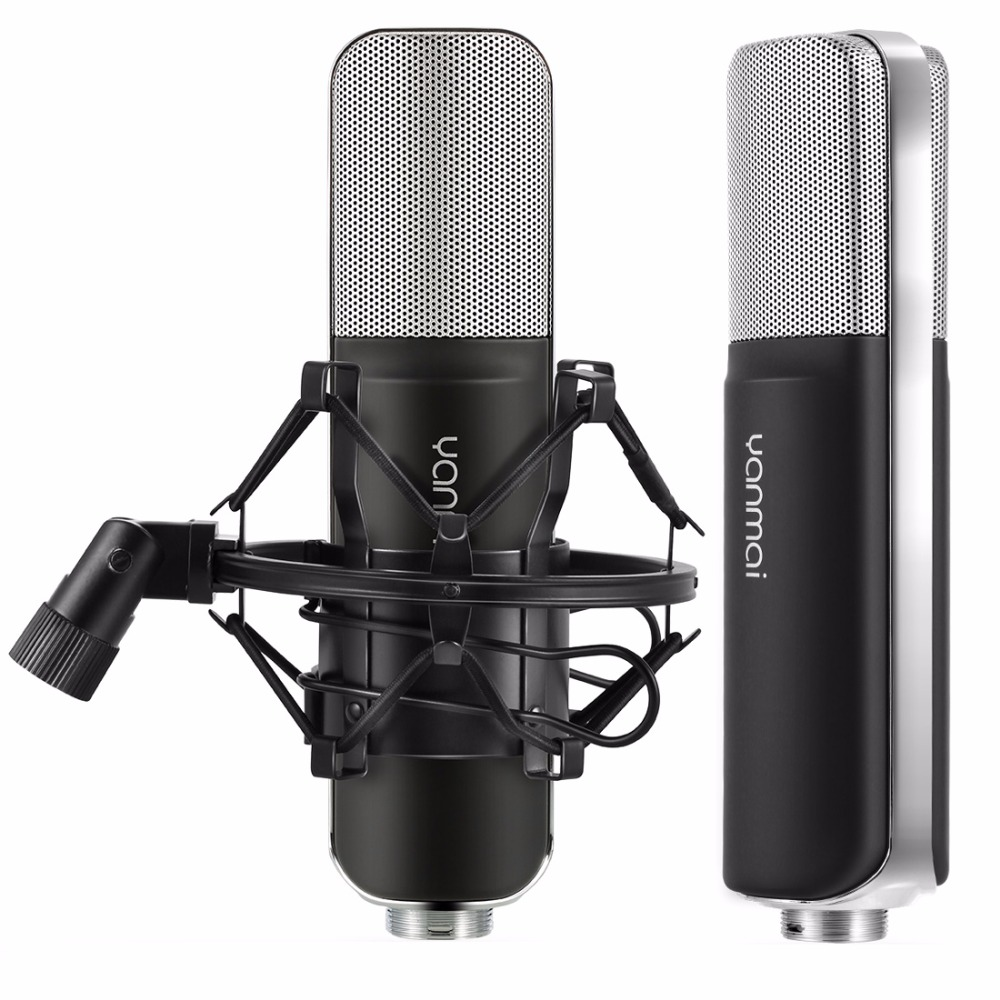 Yanmai SF-911B USB 2.0 Professional Condenser Sound Recording Microphone with Base Holder, Cable Length: 1.5m цена
