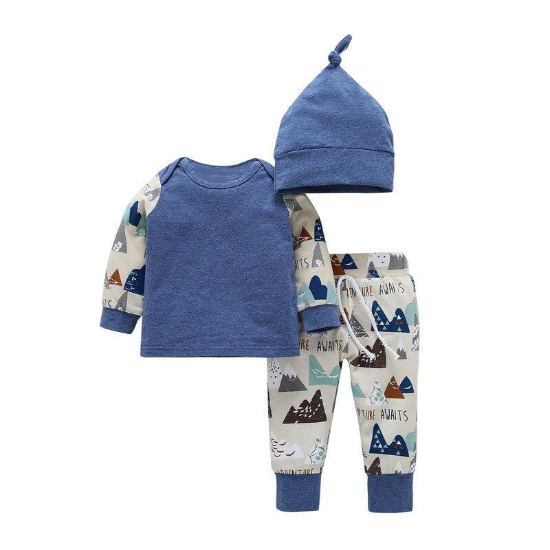 2017 Winter spring Kids Thicken clothing suit Baby Boys Girls Plus Velvet Hoddies t shirt +Pants +hat Cotton Childrens Clothes