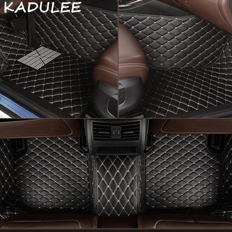 KADULEE PU leather car floor mats for Audi A5 2008 2009 2014 2015 2016 2017 2018 Custom auto foot Pads automobile carpet covers