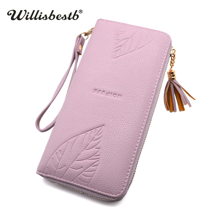 2018 New Brand Design Ladies Wallet Female Long Zipper Clutch Leather Coin Purse For Women Wallets Card Holder Feminina Carteira long women wallets pu leather large capacity card holders ladies zipper clutch wallets print pineapple purse carteira feminina