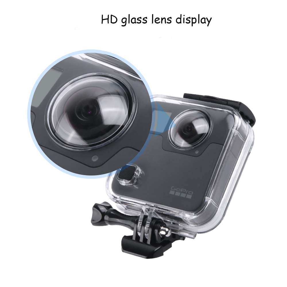 JINSERTA 45M Underwater Waterproof Case for GoPro Fusion Camera Diving  Housing Mount for GoPro Fusion Accessories