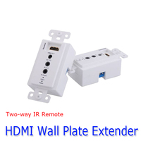 Kaycube HDMI Extender Two Way IR Infrared Repeater Controll Via A Cat5 6e Wall Plate Up