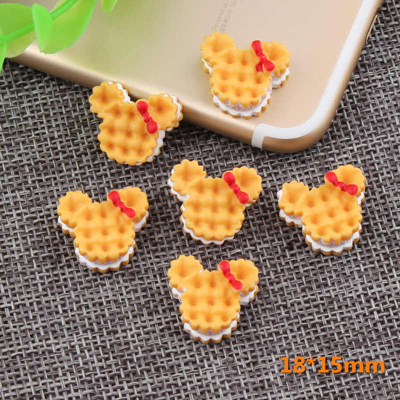 8Pcs/Lot Sandwich Biscuit Polymer Slime Charms Lizun Modeling Clay DIY Accesorios Box Toy For Children Slime Supplies Filler