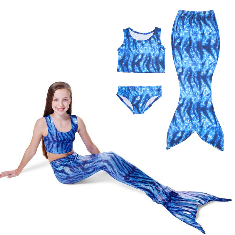 High Quality Sale Mermaid Tail Costume Kids Girls Mermaid Tail With Swimsuit Summer Brithday