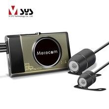 Vsys 2017 derniers mixtes nouvelle version T2 moto caméra DVR avec réel 1080 P FHD caméra avant et arrière vue VGA caméra étanche