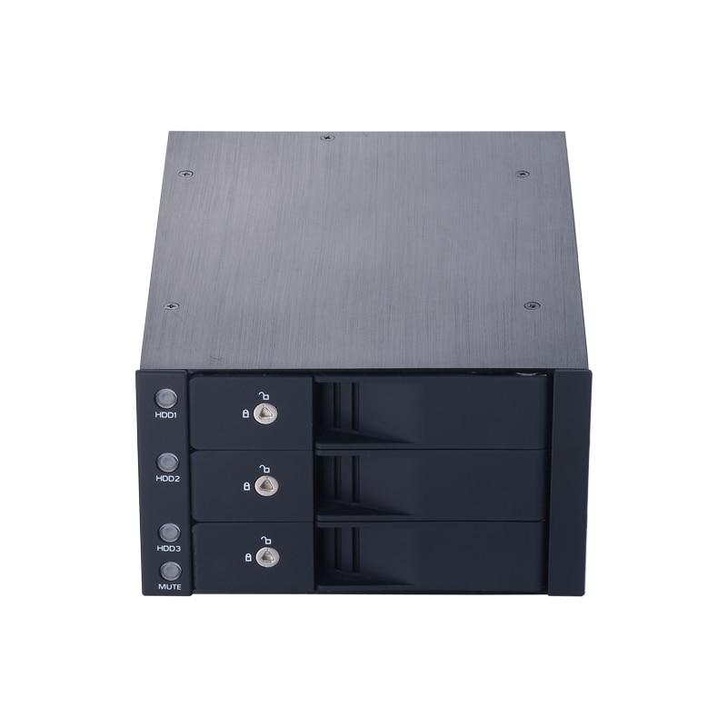 """""""3*3,5-дюймовый внутренний жесткий диск мобильный стойка для 2*5.25"""""""" отсек дисковода для оптических ПК с возможностью горячей замены с конструкцией замка"""""""