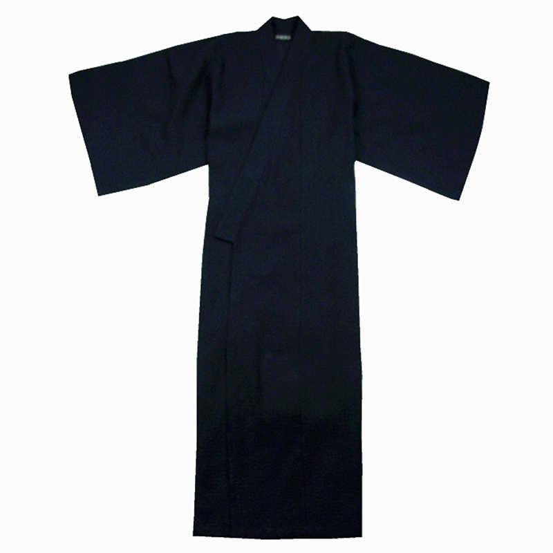 伝統的な日本男性の着物ローブ浴衣綿 100% 男性のバスローブ着物パジャマ帯ベルト別途購入
