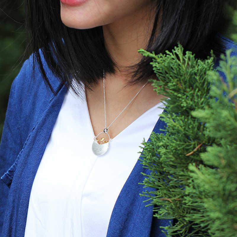 Lotus Vui Thật Nữ Bạc 925 Handmade Mỹ Trang Sức Nhỏ Của Tôi Thiết Kế Sân Vườn Mặt Dây Chuyền Mà Không Vòng Đeo Cổ Cho Nữ Acessorios