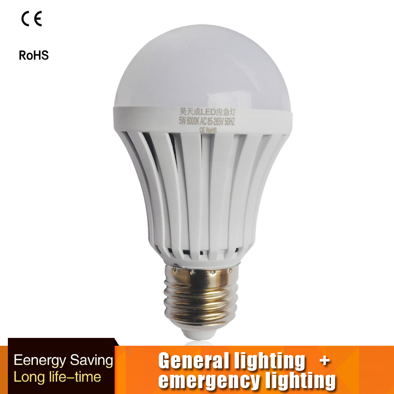 Smart LED <font><b>Bulb</b></font> E27 5w-9W Led <font><b>Emergency</b></font> <font><b>Light</b></font> 110V 220v Rechargeable Battery Lighting firefighter Lamp Bombillas indoor lighting image