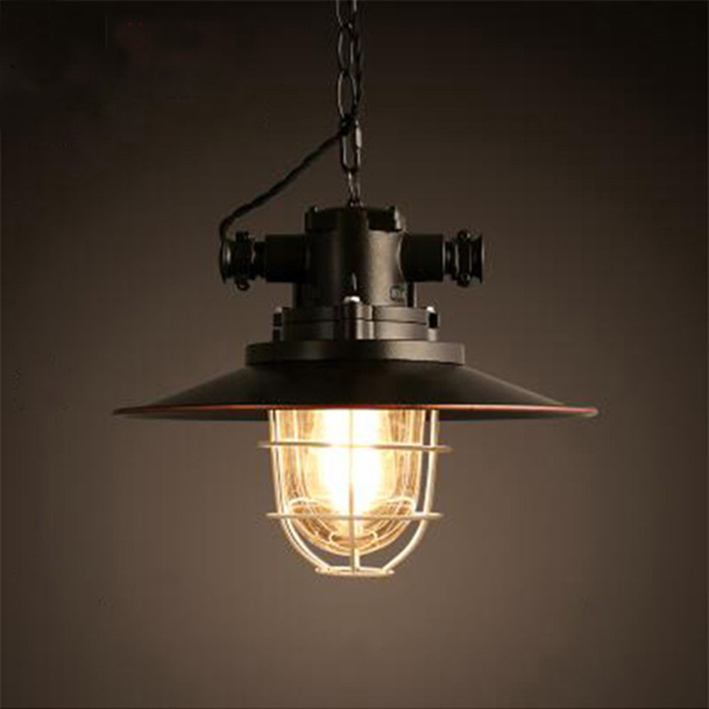 Nordic Loft Restaurant Bar Droplight American Country Industry Ancient Style Pendant Lamp Iron Single Head Pot Droplight creative loft warehouse industry wind restoring ancient ways american country single head droplight character art lamp shade