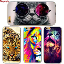 Cute Cat with Glasses Tiger Skull Pattern Case Cover For iphone 5 5s SE 6 6S