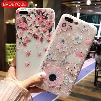 BROEYOUE Case For Huawei P20 P10 P9 P8 Lite Honor 6X 7X 9 Lite Nova 2 Plus 3E Relief Silicone Case Ultra Thin Cases Back Cover