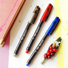 72 pcs/Lot Classic gel pen Blue black red color ink 0.5mm roller ball pens Wholesale Stationery Office School supplies FB208 12pcs lot wholesale black red blue gel pen bulk stationery hookah pen caneta material mont office accessories school supplies