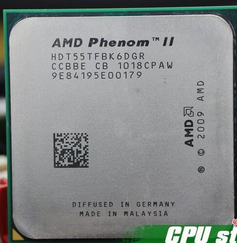 Livraison Gratuite AMD Phenom II X6 1055 T 125 W CPU processeur 2.8 GHz AM3 938 Processeur Six-Core 6 M De Bureau CPU scrattered pièces