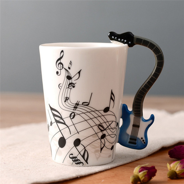 Music Themed Ceramic Tea Cups