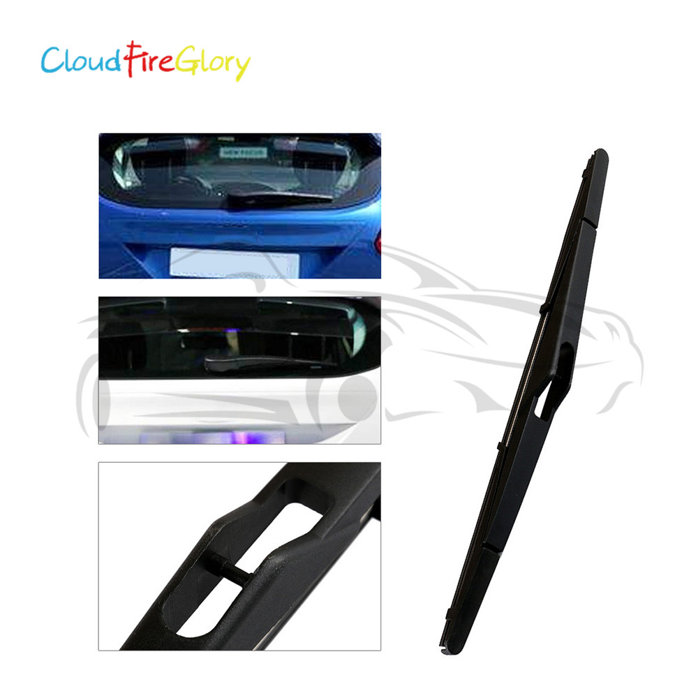 CloudFireGlory For Ford Focus 2012 Fiesta 2008+ Black Rear
