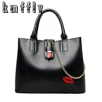 Kmffly Brand 2017 Women Bag Lipstick Lock Luxury Handbags Women Bags Designer Sac A Main Handbag