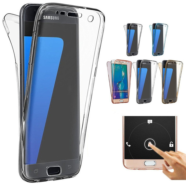 Coque For Samsung Galaxy S7 Edge S8 Plus S6 J1 J3 J5 J7 A3 A5 2016 2017 S3 S4 S5 Grand Prime TPU Soft Touch Case full body Cover