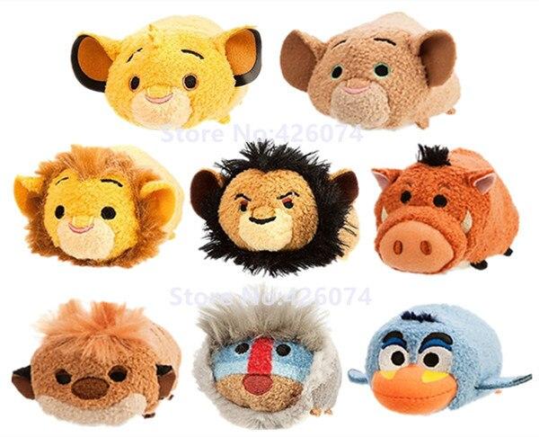 Nuevo El Rey León Simba Nala Mufasa Timon Pumbaa cicatriz hiena Zazu Rafiki Mini limpiador de Smartphone de felpa niños animales de peluche juguetes