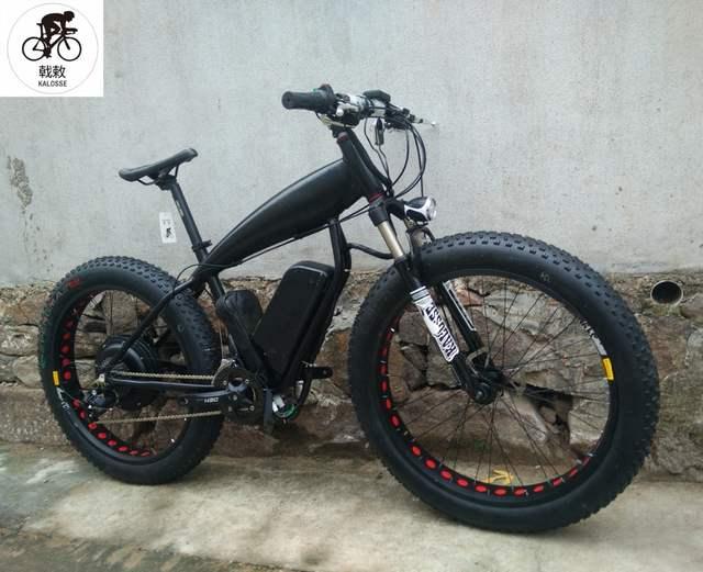 6b3fd8a66a6 placeholder Kalosse 48V 1000W 26*4.0 tires Beach bicycle electrical snow  bike electric mountain bike 27