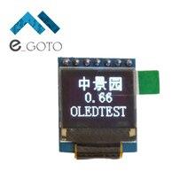 Белый 0.66 дюймов OLED Дисплей модуль 64×48 0.66 «ЖК-дисплей Экран SPI для Arduino AVR STM32