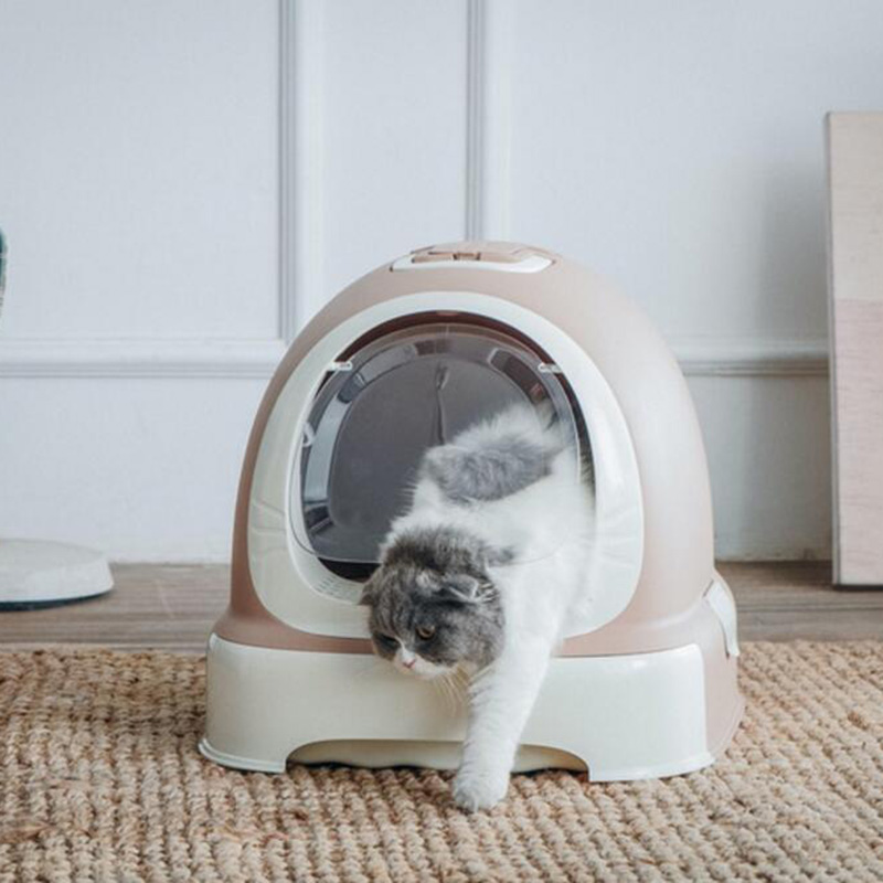Cat Closed Beetle Toilet Closed Cats Sandbox Bedding Training Pet Toilet Cats Bedpan Pet Detachable kitten Litter Box supplies 翻轉 貓 砂 盆