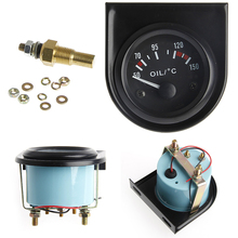Universal 2 52mm LED Light Car Pointer Oil Temperature Temp Gauge 50-150 degrees Celsius New explosion proof temperature sensor temperature transmitter arbitrarily selected measuring range from 50 to 400 degrees celsius