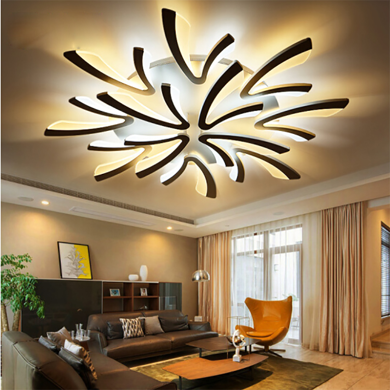 Light Filled Contemporary Living Rooms: Acrylic Thick Modern Led Ceiling Lights For Living Room